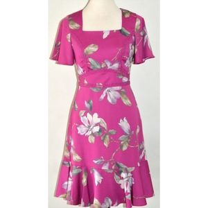 REVIEW BAMBI FUCHSIA PINK FLORAL VIOLET DRESS 10